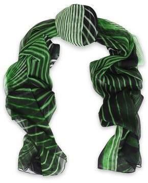 Roberto Cavalli Printed Silk-Chiffon Scarf