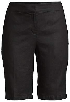 Eileen Fisher Women's Straight-Leg Organic Linen Bermuda Shorts