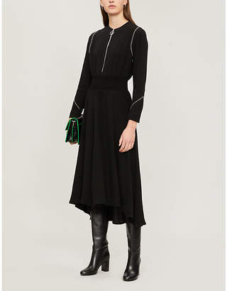 Maje Zip-detail crepe midi dress