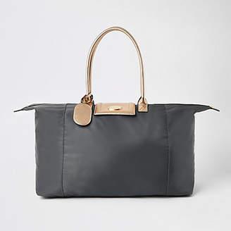 c3d4556115 River Island Grey soft RI weekend travel bag