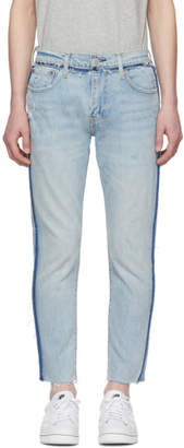 Levi's Levis Blue 512 Slim Wrong Side Out Jeans