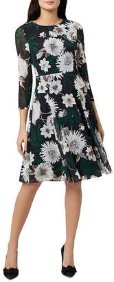 Hobbs London Aurelie Floral A-Line Dress