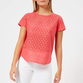 Joules Women's Nadine Broderie Front Top
