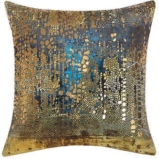 Ediehome Precious Metals Collection Velvet and Gold Metallic Pillow