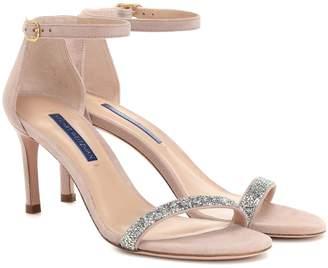 Stuart Weitzman Nunakedstraight suede sandals