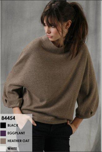 B. Chyll Julia Sweater in Black, Heather Oatmeal and White