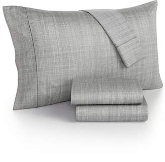 Hotel Collection Modern Plaid 525 Thread Count California King Sheet Set, Created for Macy's Bedding