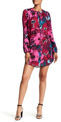 Charles Henry Long Sleeve Printed Shift Dress $88 thestylecure.com