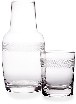 One Kings Lane Asst. of 2 Laurel Carafe & Glass - Clear