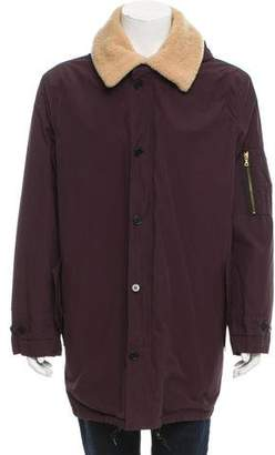 Paul Smith Sherpa-Lined Hooded Parka w/ Tags
