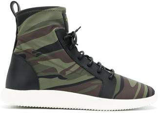 Giuseppe Zanotti Design camouflage sock sneakers