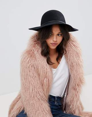 Asos DESIGN Skinny Band Felt Floppy Hat With Size Adjuster