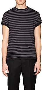 Officine Generale Men's Striped Cotton Short-Sleeve T-Shirt - Gray