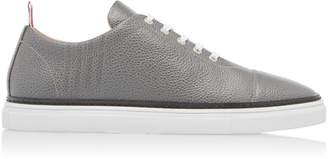 Thom Browne Pebble-Grain Leather Cap-Toe Sneakers