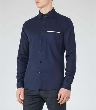 Reiss Thea Piped Pocket Shirt