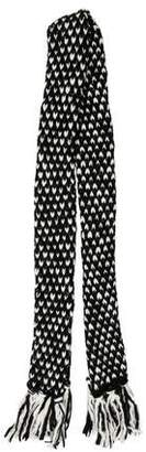 Karl Lagerfeld Chunky Knit Wool-Blend Scarf