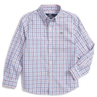 Boy's Vineyard Vines Dering Check Woven Shirt $45 thestylecure.com