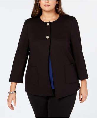 Nine West Plus Size Two-Button Blazer