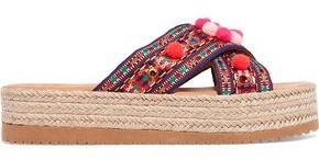 Mabu By Maria Bk Violette Embellished Woven Platform Slides