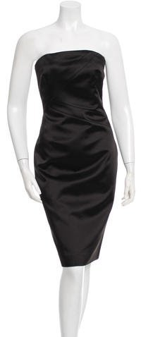 MICHAEL Michael Kors Michael Kors Strapless Satin Dress w/ Tags