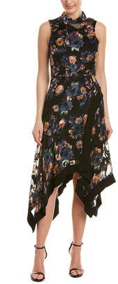 Nicole Miller Artelier Silk-Blend A-Line Dress