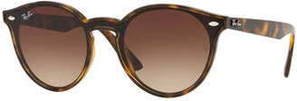 Ray-Ban Men's Round Lens-Over-Frame Gradient Plastic Sunglasses