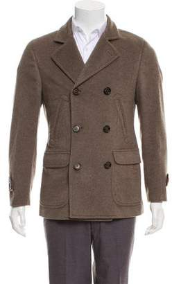 Brunello Cucinelli Cashmere Double-Breasted Peacoat w/ Tags