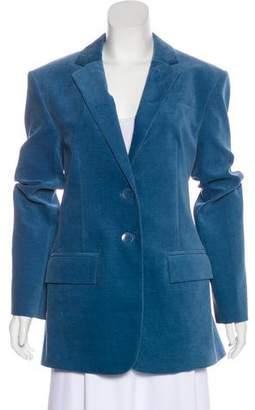 Tibi Velvet Notch-Lapel Coat