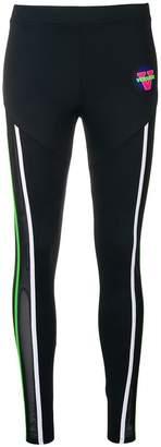 Versace logo patch leggings