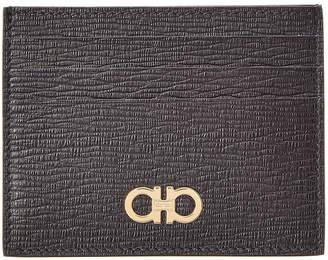 4667a94523a Salvatore Ferragamo Gancio Square Leather Cardholder