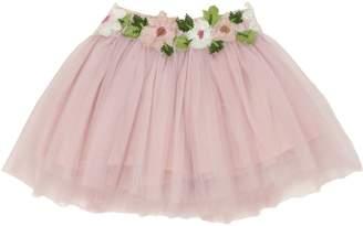 Popatu Floral Embellished Tulle Skirt