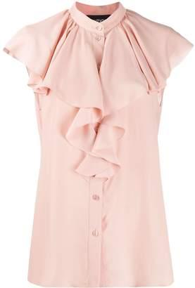 Moschino ruffled crepe blouse