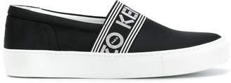 Kenzo logo stripe slip-on sneakers