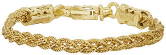 Emanuele Bicocchi Gold Small Braided Bracelet