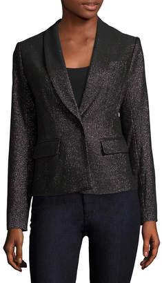 Tracy Reese Solid Shimmer Blazer
