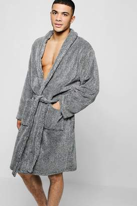 boohoo Two Tone Shawl Collar Robe