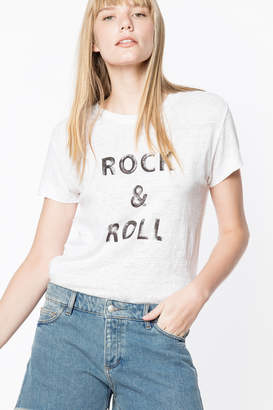 Zadig & Voltaire Walk Lin Rock and Roll T-Shirt