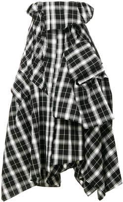 Enfold full tartan skirt