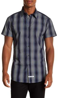 English Laundry Plaid Ombre Woven Regular Fit Shirt
