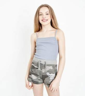 New Look Girls Green Camo Print Shorts
