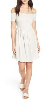LIRA Lilly Smocked Off-the-Shoulder Dress