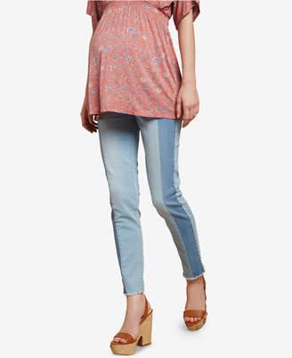 Jessica Simpson Maternity Colorblocked Skinny Jeans