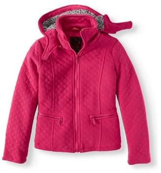 Yoki Sherpa Lined Quilted Fleece Hooded Jacket (Little Girls & Big Girls)