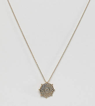 Orelia gold plated bead coin necklace