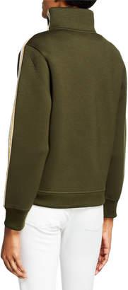Zadig & Voltaire Glitter Striped Stand Collar Jacket
