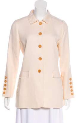 Oscar de la Renta Wool Long Sleeve Jacket