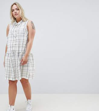 Junarose Check Drop Waist Dress