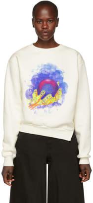 Off-White White World Hand Spliced Sweatshirt