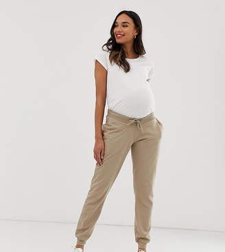 Asos DESIGN Maternity under the bump basic jogger with tie