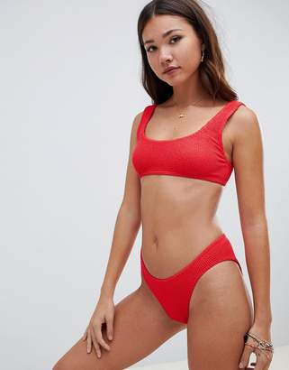 Asos (エイソス) - ASOS DESIGN Mix and Match Crinkle High Leg Hipster Bikini Bottom